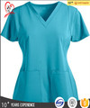 Women's stylish V-neck scrub top medical uniforms nursing scrubs