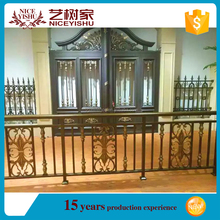 2016 new alibaba decorative cheap aluminum railing gat /ornamental used laser cut wrought iron main gate for villas homes garden