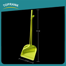 Toprank Cheap Price Home Use Iron Handle Angle Broom Soft Broom Brush Plastic Dust Pan And Broom Set