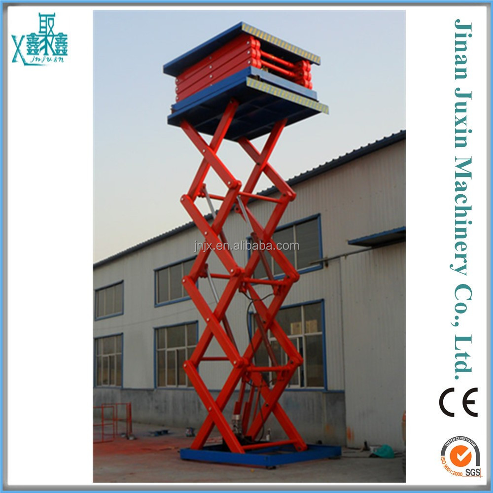 Heavy duty Hydraulic stationary scissor lifting equipment for granite