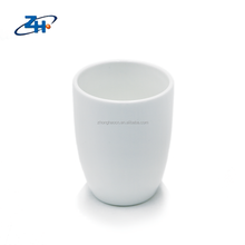 Glossy surface simple barrel shape plain white ceramic mug without handle