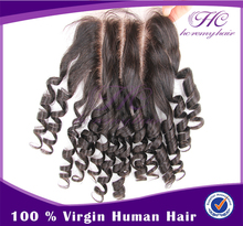 Buy Direct From Factory Brazilian Lace Part Loose Waves Middle Part Bleached Closures