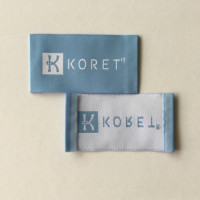 Brand high quality custom woven clothing labels for women's garment low minumum