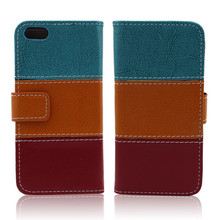 Leather Material and Apple iPhones Compatible Brand flip leather case for iphone 5 5s