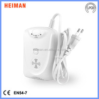 portable 100-240V AC Natural gas CH4 or LPG Gas Leak Detector alarm, Support 9V Rechargeable Backup Battery HM-712NS-AB