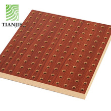 Composited perforated Wooden decorative acoustic insulated interior wall panel