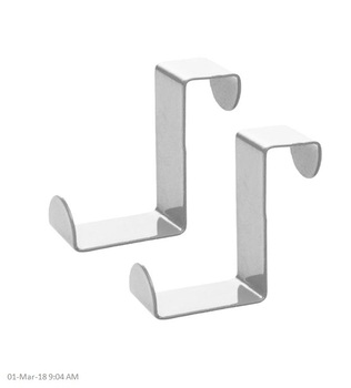 Stainless Steel Metal Over Door Hooks