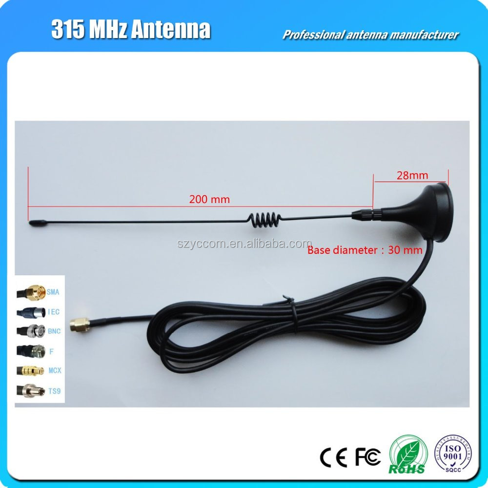 315Mhz 3dbi SMA Antenna Magnetic base with 3m for Ham radio Antenna