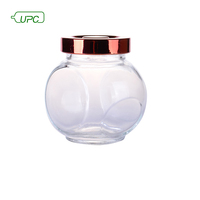 Good quality branded recycled clear glass condiment spice bottle