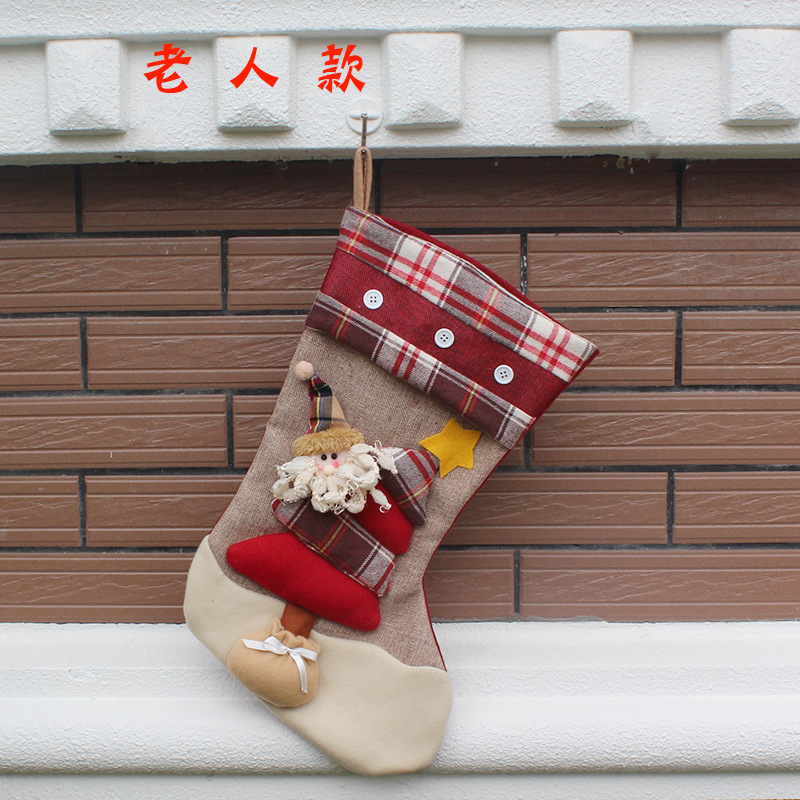 Decor Gift Drop Ornaments Hot Sale Christmas Socks Stocking