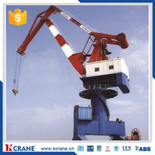 Mobile Portal harbour crane for working on harbour folding arm