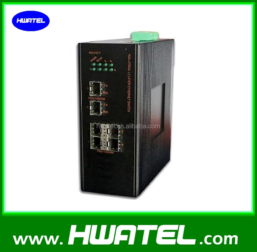 10/100/1000m industrial ethernet switch 4 port GE UTP + 1 Port SFP Combo MANAGEMENT snmp