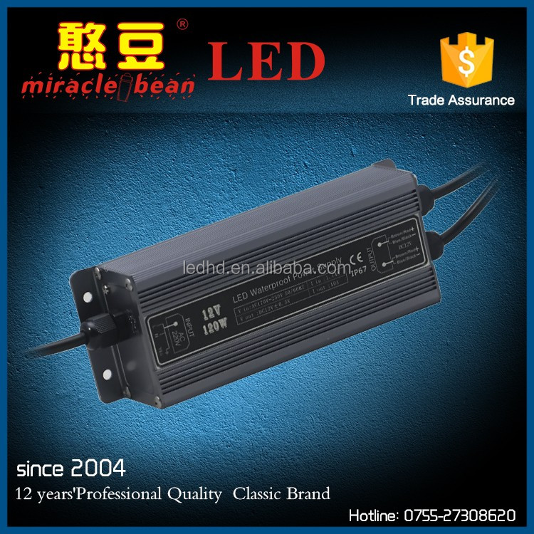 120W constant voltage led driver transformer waterproof ac 110v dc 12v 60a power supply