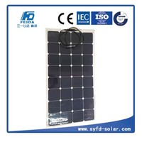 100W Bendable Solar Panel Waterproof/ Shock/ Dust Resistant Power Charger for RV, boat, cabin,