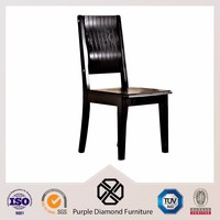 Living room furniture black high glossy wooden chair pictures price