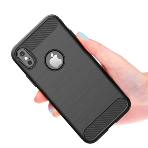 Dropshipping Brushed Carbon Fiber Texture Shockproof TPU Protective Case for HTC U11 Eyes/Ull Lite/U11 Plus