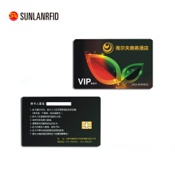 Colorful PVC contact IC card portable contactless smart card with chip