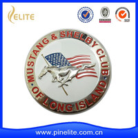 Custom horse metal car badges with plating nickel for sales