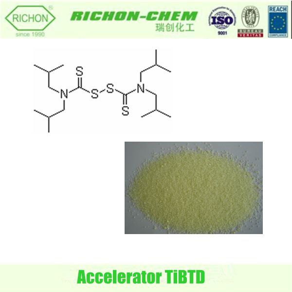 China Manufacturer Rubber Additive Auxiliary Agent for Natural Rubber CAS NO.3064-73-1 Chemicals Formulas C18H36N2S4 TiBTD