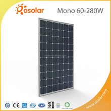 High Efficiency 4 Busbar Cell Solar Module Technology Silver Mono 280W home solar panel wholesale With TUV CE Certification | So