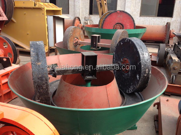 2014 Selecting gold machine wet pan mill, wet grinding mill for mineral separation