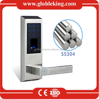 2016 New Stainless steel Biometric Fingerprint door lock with Touch screen and IP65