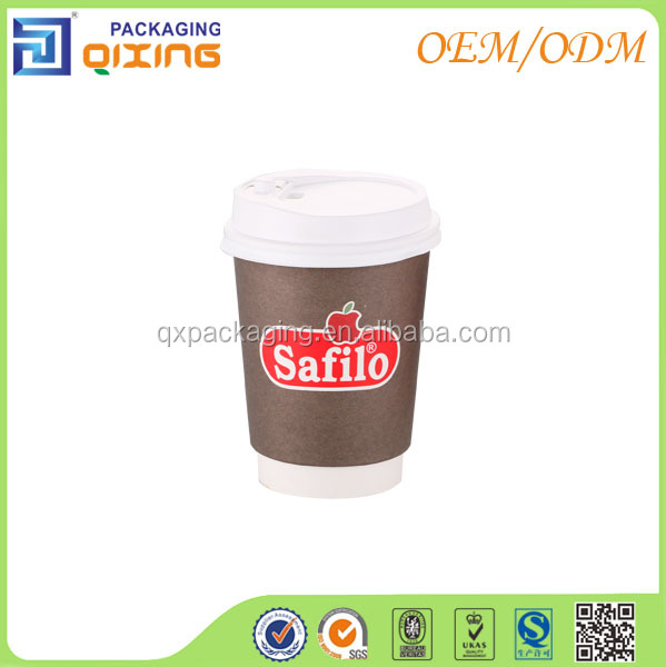 Biodegradable paper cups with different capacity for coffee and hot drink