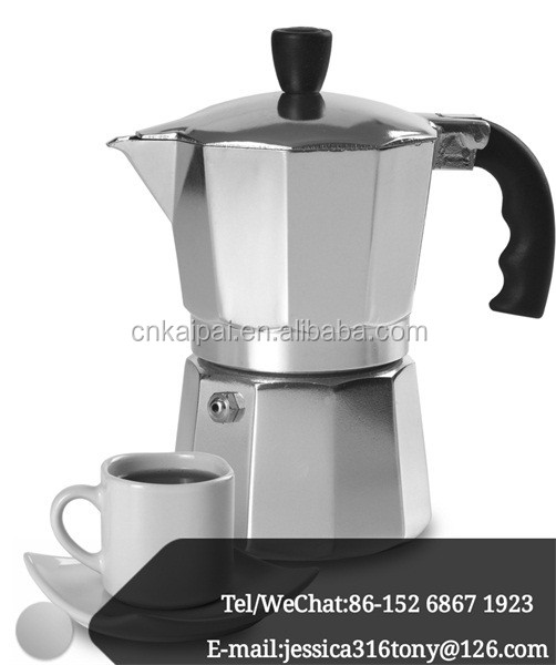 6CUP Italian-style Stovetop Manufacture Commercial Espresso 2016 New Design Aluminum Coffee Makers