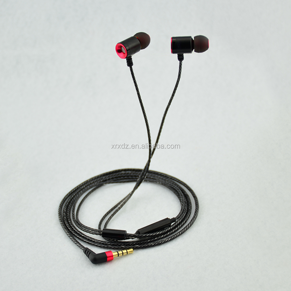 MIC and voice control in-ear 3.5mm jack metal earphones Sports Waterproof Headphones