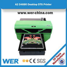 Most reliable A2 size direct DTG printing, WER-D4880T t-shirt printer