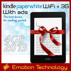 Amazon All-New Kindle Paperwhite WiFi+3G 4GB 2013 with ads Brand New e-reader Kindle Paperwhite