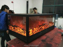 3 side new insert design electric fireplace