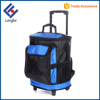 Latest design big front pocket rolling backpack cooler, 2 wheels ...