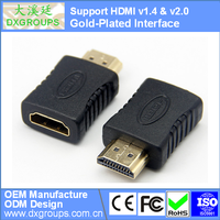 HDMI Female to HDMI Male Gold-Plated Adapter Converter (Type A v1.4 & v2.0 3D)For HDTV For DVD For PS3