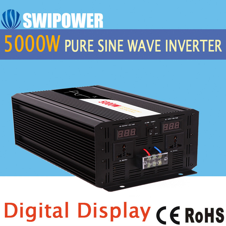 inverter 12v 220v 5000w pure sine inverter solar power