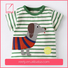 New stlye cute printed boys pocket tee /pocket t-shirt in different color boy t-shirt clothing