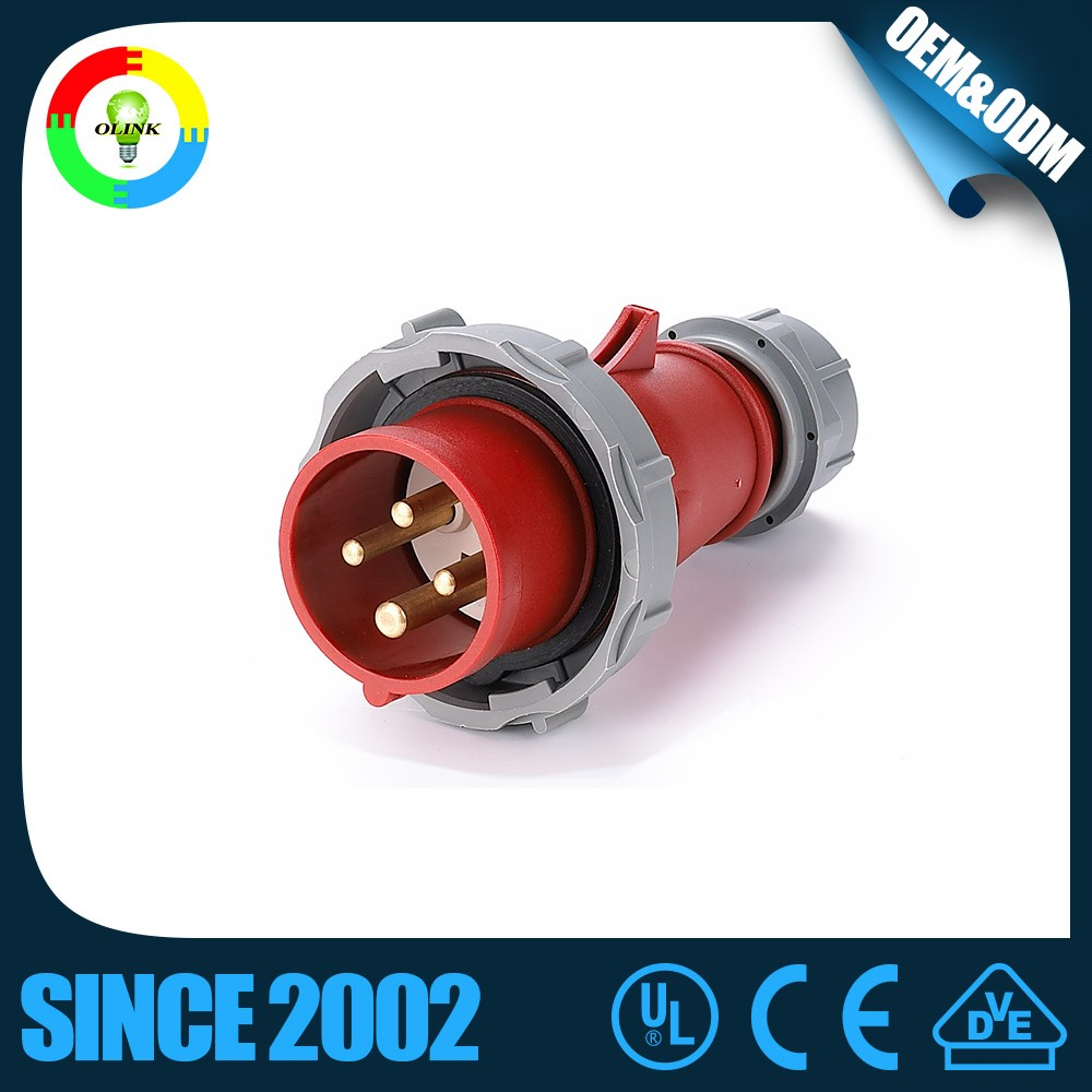 Newest Hotselling Sente High Quality 16a 3P 220v Ip55 New Type Industrial Plug and Socket with CE CCC CB TUV GS Certification