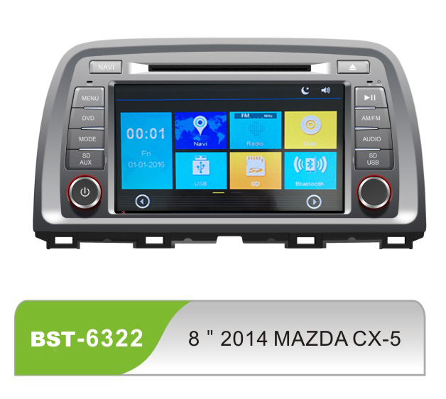 8inch double din car dvd gps navigation multimedia system for MAZDA CX-5 with android window ce system