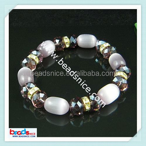 Beadsnice ID 6040 Imitated crystal glass agate 10x13mm gps tracking bracelet