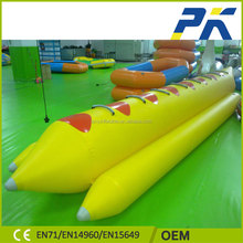 2017 Cheap Inflatable Fly Fishing Inflatable Water Sports Banana Boat For 5 Persons