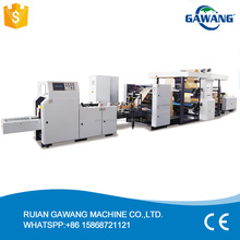 Food Shopping Glassine Kraft Paper Bag Making Machine With PP Window and Inline Printing Option