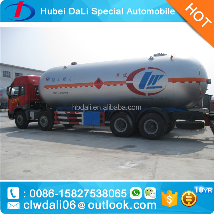 Customized FAW brand new 8x4 Drive Wheel mobile dispenser lpg gas tank truck