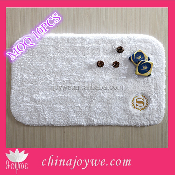 Eco-friendly Cotton Yoga Mat Hotel Use Towel Anti-Slip Bath Mat Floor Door Mat