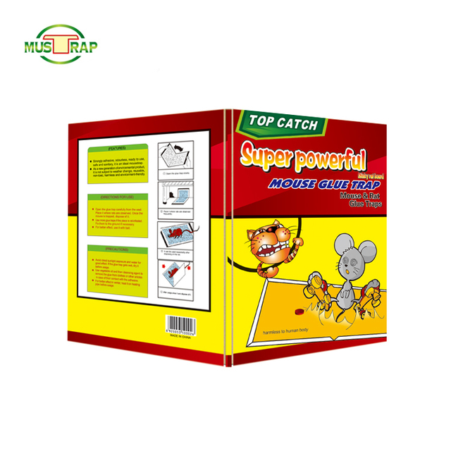Mustrap Diapossable Sticky Yellow Paper All Kind Of Mouse Board Traps