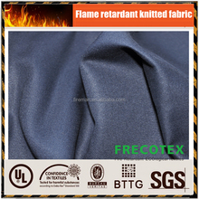High quality 7OZ 100 cotton knit single jersey fire flame resistant fabric UL certificated