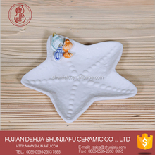 Starfish shape decorative ceramic dish