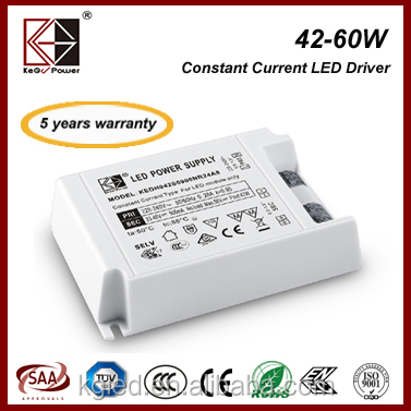 KEGU internal 50W 1200mA 30-42v constant current led driver with SAA CE ENEC TUV