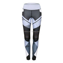 Polyester Spandex Custom Sublimation Printed Yoga Wear Womens Fitness Sports Leggings Yoga Pants