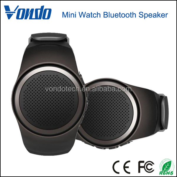New Product Outdoor Speakers With FM Radio Function Wireless Bluetooth Watch Speaker