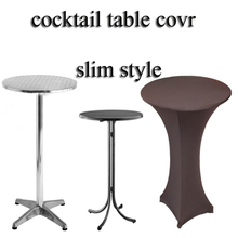 New design stretch cocktail spandex table cover linens OEM